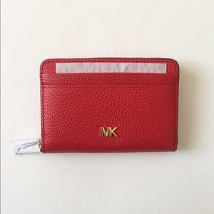 NWT Michael Kors Zip Around Coin Card Wallet